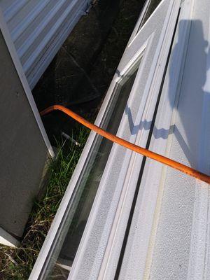 10 foot garage door panel with glass for Sale in Chesapeake, VA