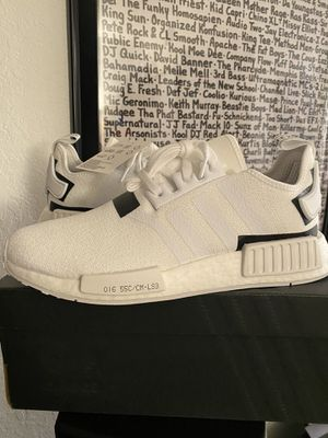 Adidas NMD r1 colorblock white black pk boost size 8.5, 9, 10.5, 12 for Sale in Sunny Isles Beach, FL