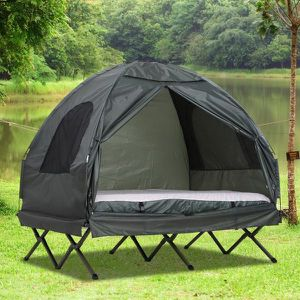 Extra Large Compact Pop Up Portable Folding Outdoor Elevated All in One Camping Cot Tent Combo Set for Sale in Anaheim, CA
