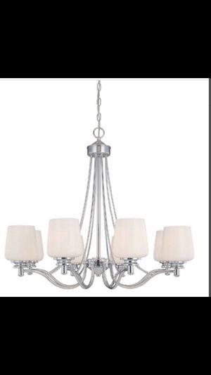 Chandelier - 8 Light Chandelier Lamp Chrome - NEW for Sale in Covina, CA