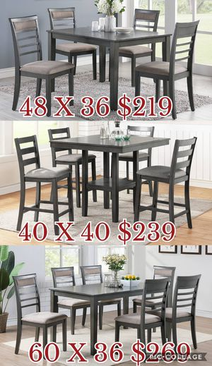 5pcs dining table set / 5pcs Counter Height dining table set / 7pcs dining table set for Sale in Los Angeles, CA