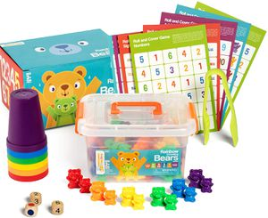 Rainbow Counting Bears With Cups For Kids And Toddlers Ages 3 And Up- Sorting Bears Game (90 Bears) - Includes Teddy Bear Counters Activity Cards To E for Sale in McCalla, AL