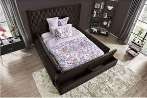 No credit needed 100 days no interest high quality queen-size multi storage bed frame only for Sale in Takoma Park, MD