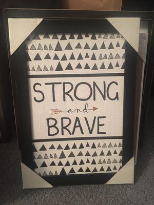 Brave framed decor 13.3x9.3in for Sale in New Brunswick, NJ