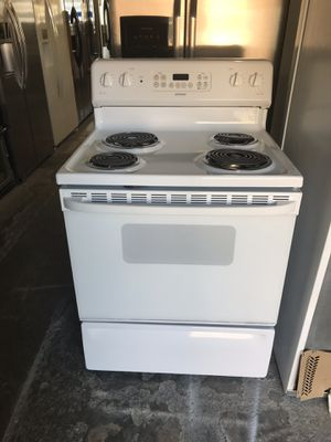 "San Carlos Appliances. Sale& services. Used, electric stove,30"",coin burners,self clean oven , great condition for Sale in San Jose, CA"