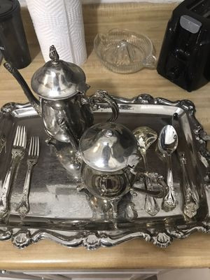 Vintage antique silver China tea set for Sale in Raleigh, NC