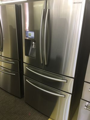 Samsung Stainless Steel 4 Door Refrigerador With Warranty No Credit Needed for Sale in Garland, TX