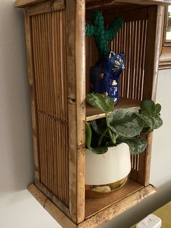 Rattan Bamboo Plant Hanger Wall shelf for Sale in Beverly Hills,  CA
