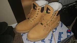 Champion timberlands for sale. size 10 $150 obo bought it for $250 with receipt and extra laces. My loss your gain for Sale in Tolleson, AZ