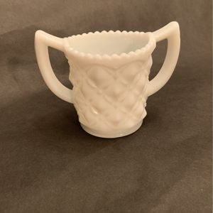 Vintage White Milk Glass Sugar Holder Diamond Pattern for Sale in La Habra, CA