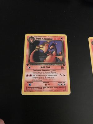 Pokemon dark charizard almost mint condition for Sale in Middletown, CT