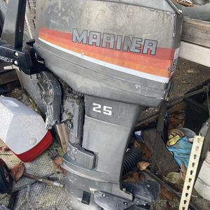 mercury mariner 25 hp NEED WORK. . good compression for Sale in Miami, FL