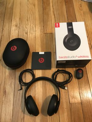 beats studio 3 wireless headphones for Sale in Lawrence Township, NJ