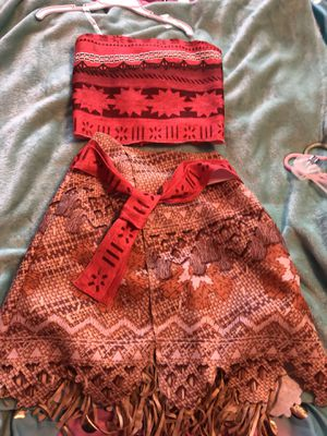 Girls Moana dress up outfit Halloween 2 piece for Sale in Cherry Hill, NJ