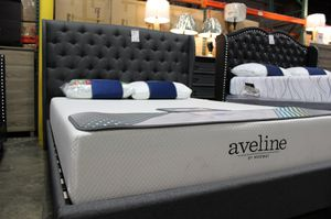 Tufted Queen Upholstered Bed Frame, Grey for Sale in Norwalk, CA