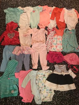 9,12, 18 baby girl clothes, 25 items plus diapers for Sale in Westchester, CA