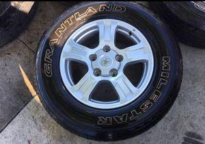 "Toyota Tundra Oem rims 18"" 5-150 lug tires 265-70-18 70% for Sale in San Diego, CA"