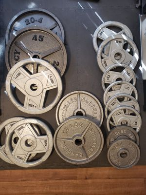 Total of 385lbs of olympic weights for Sale in Renton, WA