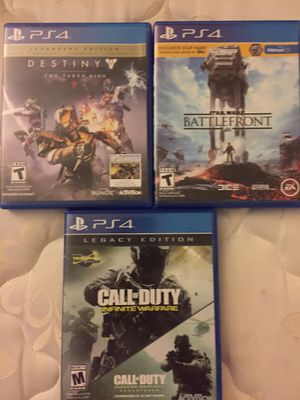 PS4 Games ( Destiny , Call Of Duty Infinite Warfare , Star Wars Battlefront ) for Sale in Severn, MD