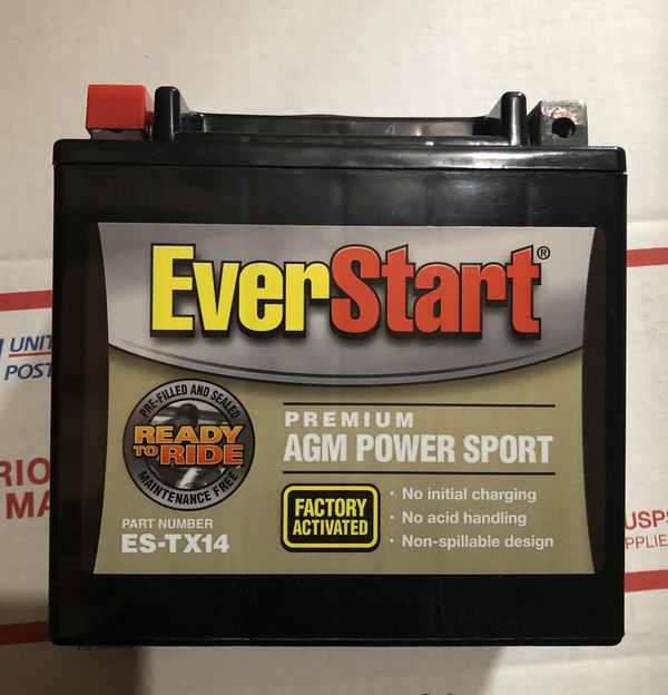 Battery ES-TX14 AGM PowerSport (Brand New) Fits Motorcycle, Moped, Scooter, Etc.