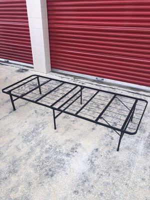 Foldable Metal Twin Bed Frame for Sale in Austin, TX