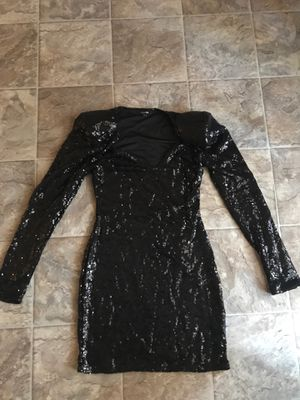 Sequined Black Fashion Nova Dress SIZE M for Sale in Raleigh, NC