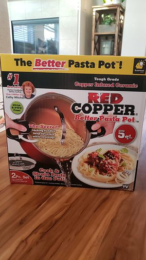 Red Copper 5qt Better Pasta Pot for Sale in San Diego, CA