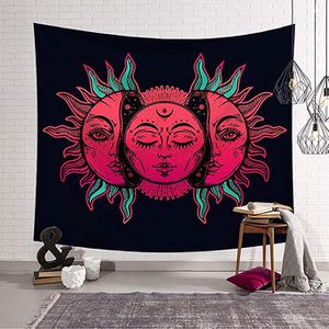 Hanging Sun and Moon Many Fractal Faces Psychedelic Small Wall Tapestry with Art Chakra Home Decorations for Bedroom Dorm Decor Living Room for Sale in Durham, NC