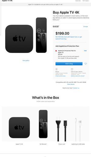 Apple TV 4k 64 bit for Sale in Chandler, AZ
