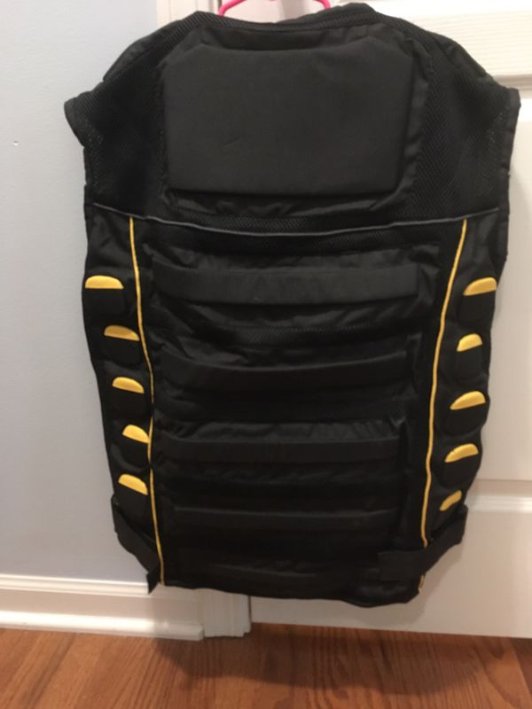 Médium motorcycle riding vest with pads - $45 obo