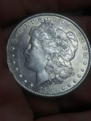 Beautiful choice gem BU 1886 plain SILVER Morgan dollar for Sale in Denver, CO