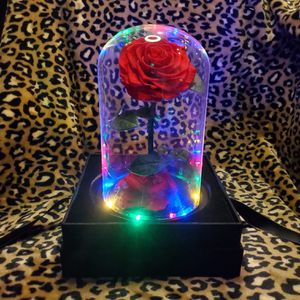 Real rose gift luxury glass lights present handmade preserved rose gift box valentine's holiday Mother's Day for Sale in Gaithersburg, MD