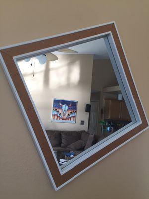 """Excellent Cork Mirror Wall Hanging Mirror w/ Cork Trim 16"""" x 16"""" bb&y New w/ Tag for Sale in Port St. Lucie, FL"""