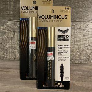 L'ORÉAL voluminous carbon black mascara $4 each for Sale in San Bernardino, CA