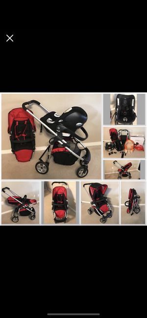 Stroller iCandy cherry and car seat Cybex Aton Q for Sale in Fort Walton Beach, FL