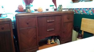 Antique side table. Solid wood and has a matching serving table. Solid wood. Usual wear and tear for an antique, but very solid and heavy. for Sale in Kingsport, TN