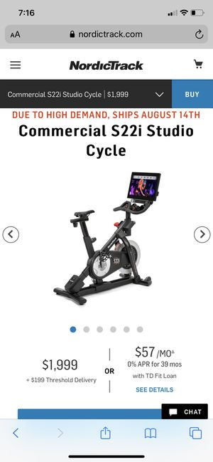 Brand new Nordic track commercial studio spin bike S22i for Sale in Washington, PA
