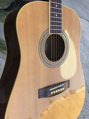 Mitchell acoustic guitar. Professional cleaning, professional detail. Brand new beginner friendly strings. Brand new tuning machines for Sale in Lemon Grove, CA