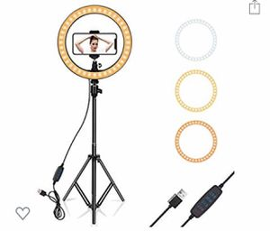 "10"" ring light/selfie light/video light with phone holder and stand for Sale in Los Angeles, CA"