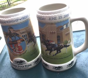 Two LONESTAR PARK RACETRACK MUGS 2000 for Sale in Colleyville, TX