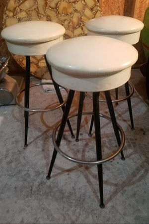 3 vintage 31 inch high swivel bar stools. All of them for 200 firm for Sale in Chicago, IL