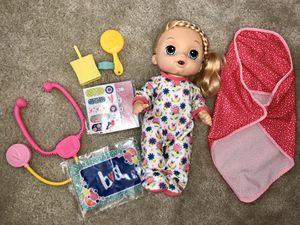 Baby Alive Sweet Tears Baby - Exclusive Bundle Pack - Blonde Hair for Sale in Winter Garden, FL