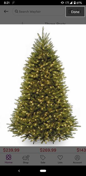 7.5 ft led white and multi colored Costco Tree for Sale in Twin Falls, ID
