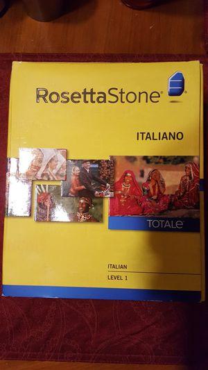 Rosetta Stone Italiano Level 1 for Sale in Providence, RI
