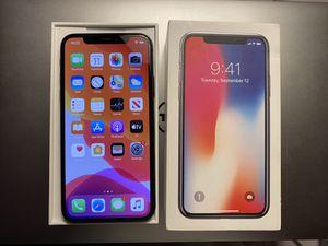 iPhone X 64GB (Factory Unlocked) W/AppleCare Plus for Sale in Menlo Park, CA