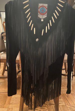 Suede fringe beaded jacket size 10 women's for Sale in Philadelphia, PA