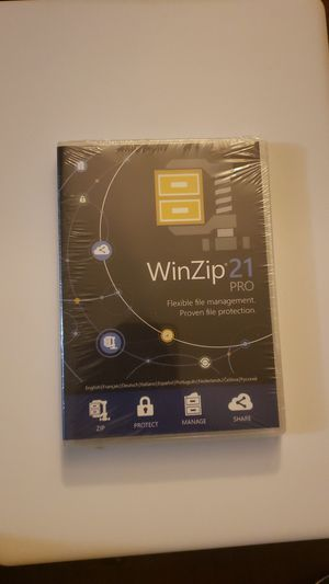 Winzip 21 pro sealed software for Sale in New Holland, PA
