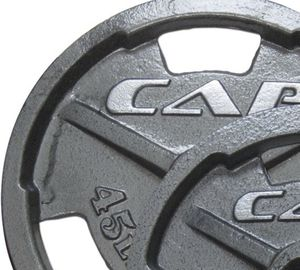 (2)45LBS CAP FAT GRIP HANDLE OLYMPIC WEIGHTS for Sale in San Diego, CA