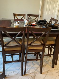 Eight Chairs High Dinning Table For Sale for Sale in Corona,  CA