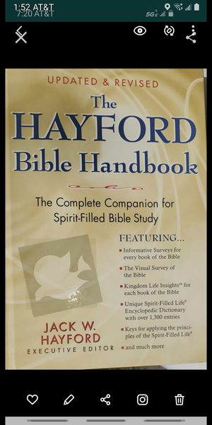 Hayford bible handbook, hardback for Sale in Grand Terrace, CA